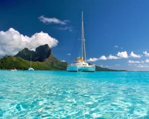 viajar a bora bora catamaran