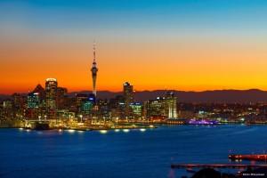 Auckland noche Viajar Nueva Zelanda