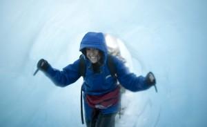 Nueva Zelanda tunel hielo