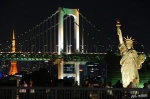 Viajes a Japon Rainbow Bridge Vista desde Odaiba Tokyo