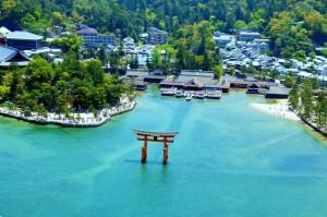 Viajes a Japon aérea Santuario Itsukushima Miyajima